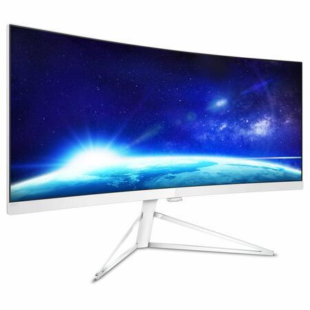 Напредничав дизайн и панорамна гледка: нов 34-инчов LCD дисплей разширява гамата от извити дисплеи Philips